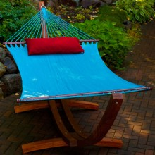 Double Hammock ALGOMA Light Blue - from your hammocks shop in Canada
