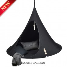 Cacoon Hanging Chair Double Black