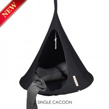 Cacoon Hanging Chair Single Black