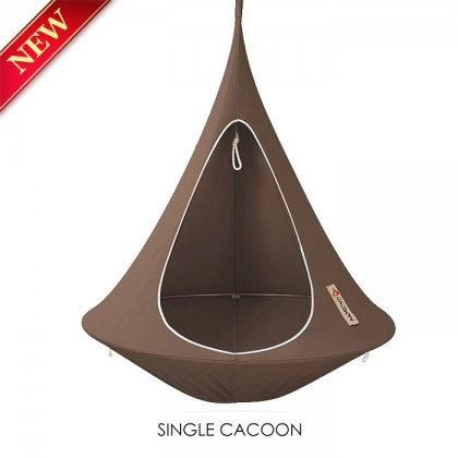 hanging tent cacoon single taupe. Black Bedroom Furniture Sets. Home Design Ideas