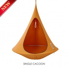 Cacoon Hanging Chair Single Orange Mango