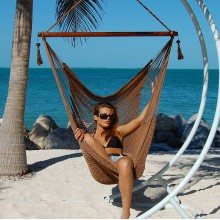 """Hanging chair Large"" Caribbean Hammocks Mocha - By the hammock shop of Canada"