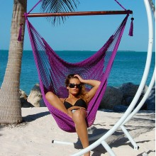 """Hanging chair Large"" Caribbean Hammocks Purple - By the hammock shop of Canada"