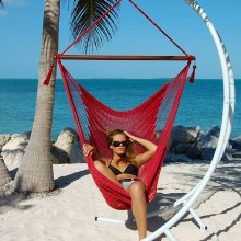 """Hanging chair Large"" Caribbean Hammocks Red - By the hammock shop of Canada"