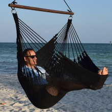CARIBBEAN HAMMOCKS CHAIR JUMBO (Black) - By the hammock shop of Canada