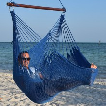 CARIBBEAN HAMMOCKS CHAIR JUMBO (Blue) - By the hammock shop of Canada