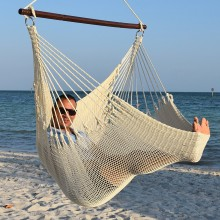 CARIBBEAN HAMMOCKS CHAIR JUMBO (Cream) - By the hammock shop of Canada