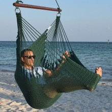CARIBBEAN HAMMOCKS CHAIR JUMBO (Green) - By the hammock shop of Canada
