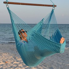 CARIBBEAN HAMMOCKS CHAIR JUMBO (Light-Blue) - By the hammock shop of Canada