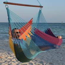 CARIBBEAN HAMMOCKS CHAIR JUMBO (Rainbow) - By the hammock shop of Canada