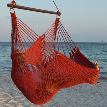 CARIBBEAN HAMMOCKS CHAIR JUMBO (Red) - By the hammock shop of Canada