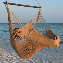 CARIBBEAN HAMMOCKS CHAIR JUMBO (Tan) - By the hammock shop of Canada