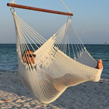 CARIBBEAN HAMMOCKS CHAIR JUMBO (White) - By the hammock shop of Canada