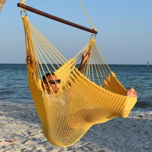 CARIBBEAN HAMMOCKS CHAIR JUMBO (Yellow) - By the hammock shop of Canada