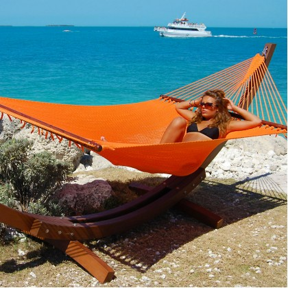 CARIBBEAN HAMMOCK JUMBO (Orange) - By the Hammock Shop of Canada