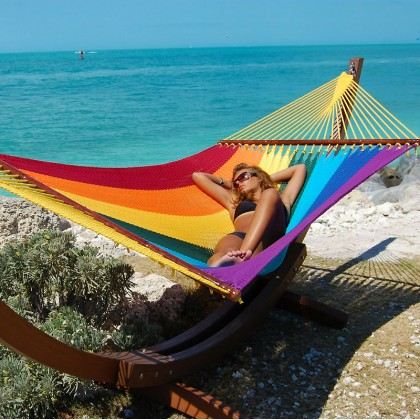 CARIBBEAN HAMMOCK JUMBO (Rainbow) - By the Hammock Shop of Canada