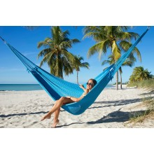 """Family Hammock"" Mayan Light Blue from Caribbean Hammocks - By the hammock shop of Canada"