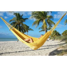 """Family Hammock"" Mayan Yellow from Caribbean Hammocks - By the hammock shop of Canada"