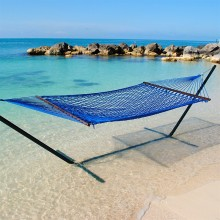 Caribbean Rope Hammock (Coastal Blue) - By the Hammock Shop of Canada