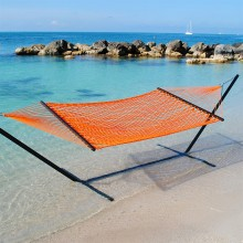 Caribbean Rope Hammock (Orange) - By the Hammock Shop of Canada