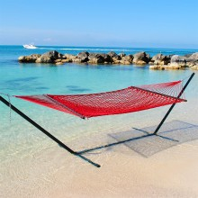 Caribbean Rope Hammock (Red) - By the Hammock Shop of Canada