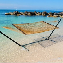 Caribbean Rope Hammock (Tan) - By the Hammock Shop of Canada