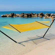 Caribbean Rope Hammock (Yellow) - By the Hammock Shop of Canada
