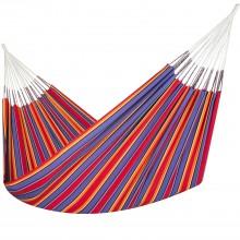 Colombian Hammock Double - Red & Blue Stripe