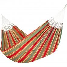 Colombian Hammock Double - Red & Green Stripe