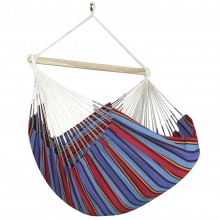 Colombian Hammock Chair Lounger - Blue Stripe