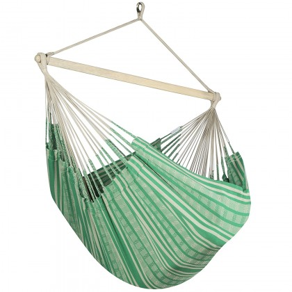 Colombian Hammock Chair Lounger - Green & Beige