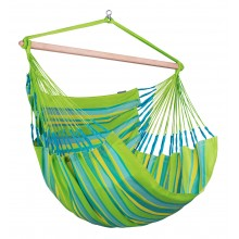 La Siesta Hammock Chair Kingsize ( Domingo Lime ) - By the Hammock Shop of Canada