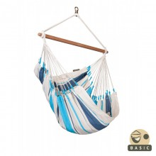 """Hanging Chair Basic"" La Siesta Caribeña Aqua Blue - By the Hammock Shop of Canada"