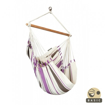 Hanging chair basic la siesta caribe a purple by the - Hamac chaise suspendu ...
