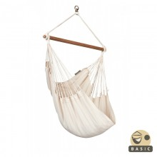 """Hanging Chair Basic"" La Siesta Modesta Latte - By the Hammock Shop of Canada"