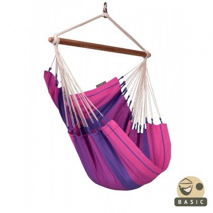 """Hanging Chair Basic"" La Siesta Orquidea Purple - By the Hammock Shop of Canada"