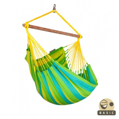 """Hanging Chair Basic"" La Siesta Sonrisa Lime - By the Hammock Shop of Canada"