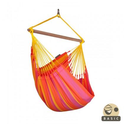 """Hanging Chair Basic"" La Siesta Sonrisa Mandarine - By the Hammock Shop of Canada"