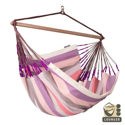 """""""Hanging Chair lounger"""" La Siesta Domingo Plum - By the Hammock Shop of Canada"""