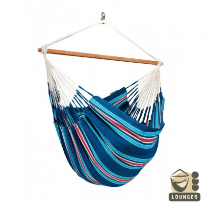 """Hanging Chair lounger"" La Siesta Currambera Blueberry - By the Hammock Shop of Canada"