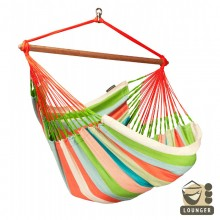 """Hanging Chair lounger"" La Siesta Domingo Coral - By the Hammock Shop of Canada"