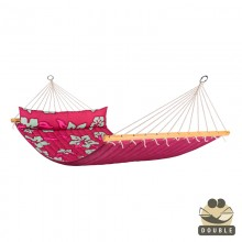 """Double Hammock"" with bars Hawaii Hibiscus - By the Hammock Shop of Canada"