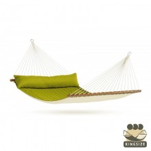 """Kingsize Hammock with bars"" La Siesta Alabama Avocado - By the Hammock Shop of Canada"