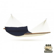 """Kingsize Hammock with bars"" La Siesta Alabama Navy-Blue - By the Hammock Shop of Canada"