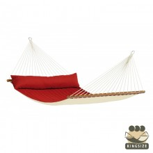 """Kingsize Hammock with bars"" La Siesta Alabama Red-Pepper - By the Hammock Shop of Canada"