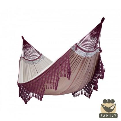 Kingsize hammock La Siesta Bossanova Bordeaux - from your hammocks shop in Canada