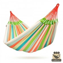 Kingsize hammock La Siesta Domingo Coral - from your hammocks shop in Canada