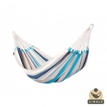 """Single hammock"" La Siesta Caribeña Aqua Blue - By the Hammock Shop of Canada"