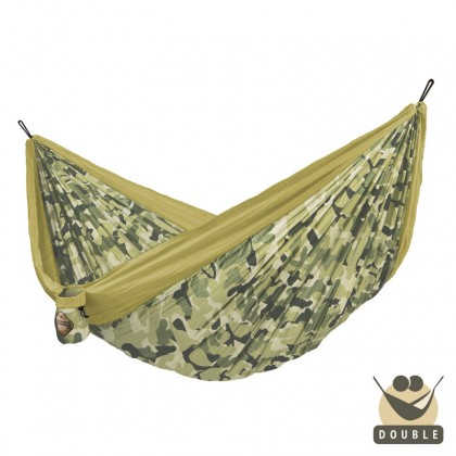 """Double hammock"" for travel Colibri CAMO Forest - By the Hammock Shop of Canada"