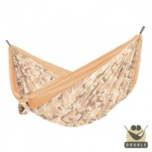 """Double hammock"" for travel Colibri CAMO Sahara - By the Hammock Shop of Canada"
